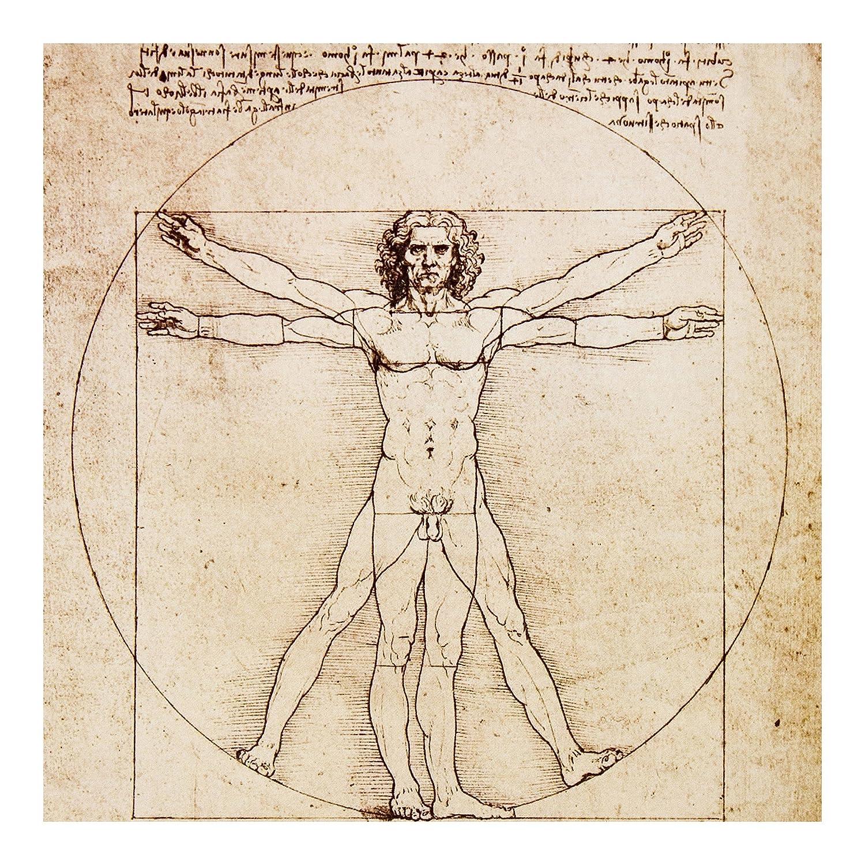 Vliestapete – Da Vinci – Wandbild quadratisch