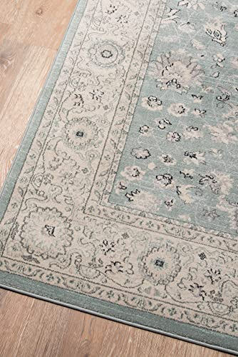 Momeni Rugs Ziegler Collection, Traditional Area Rug, 2 x 3 , Blue