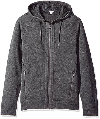 752be12247ba Calvin Klein mens Long Sleeve Ck Logo Fleece Hoodie Hoody  Amazon.co.uk   Clothing