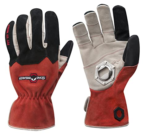 Faithful Red Water Resistant Gloves With Fitted Cuffs Gardening Supplies