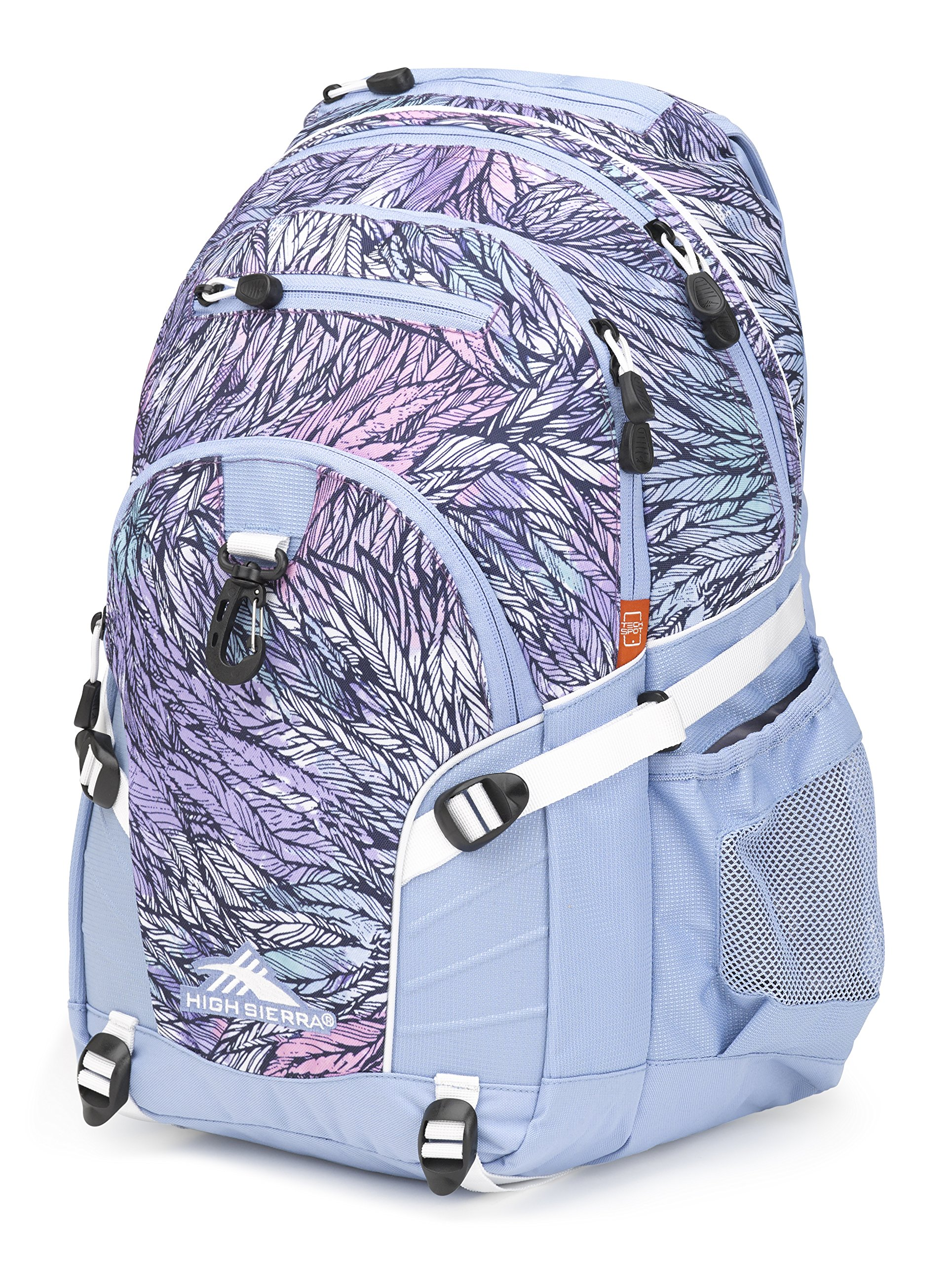High Sierra Loop Backpack, Feather Spectre/Powder Blue/White by High Sierra