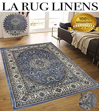 Light Blue Persian Floral Oriental Formal Traditional Area Rug 5x7 Easy To Clean Stain Fade Resistant
