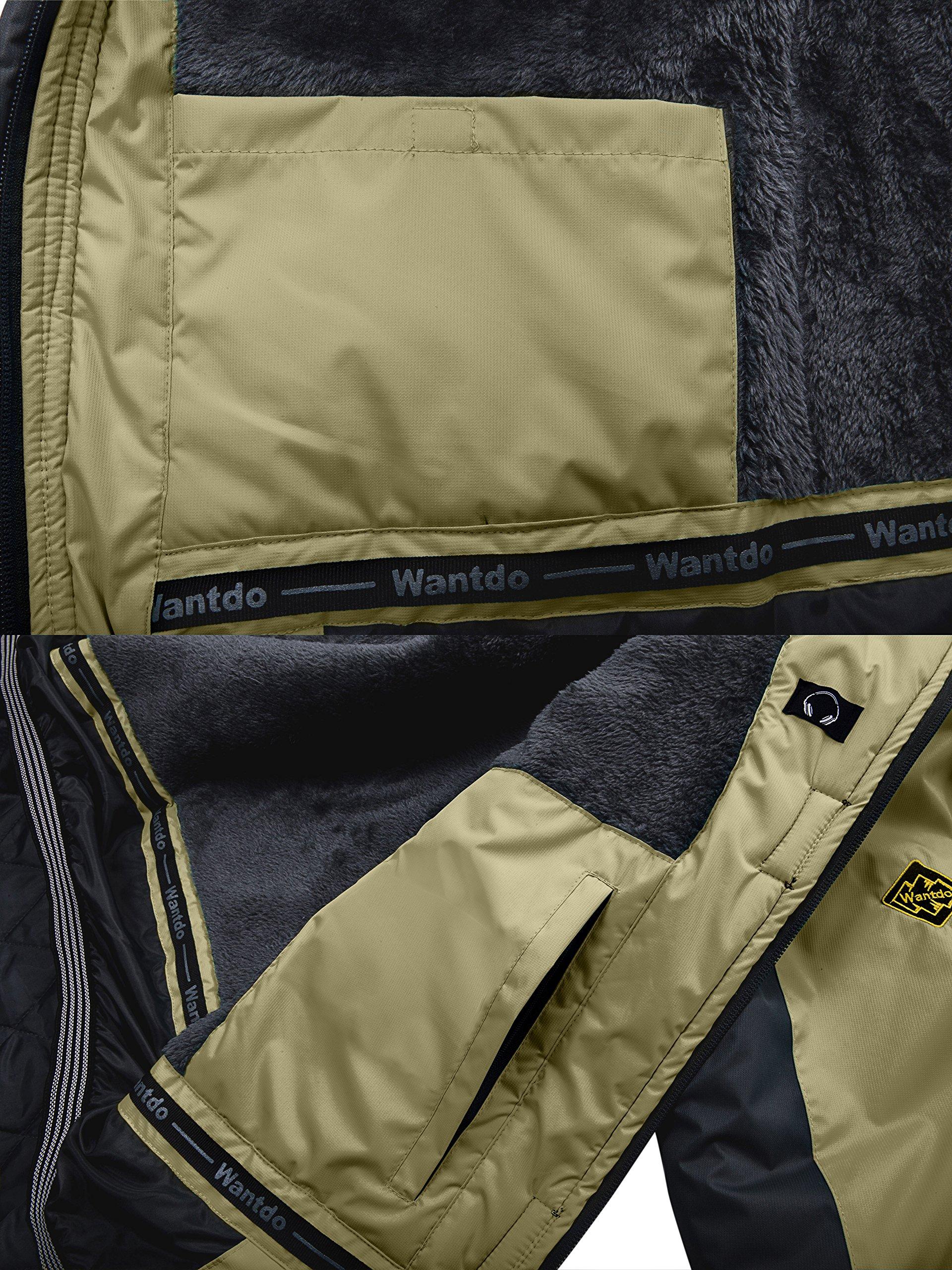 Wantdo Mens Waterproof Mountain Jacket Fleece Windproof Ski Jaket Silver Misty Jacketus S Wt0486 Jackets Sports Outdoors Tibs