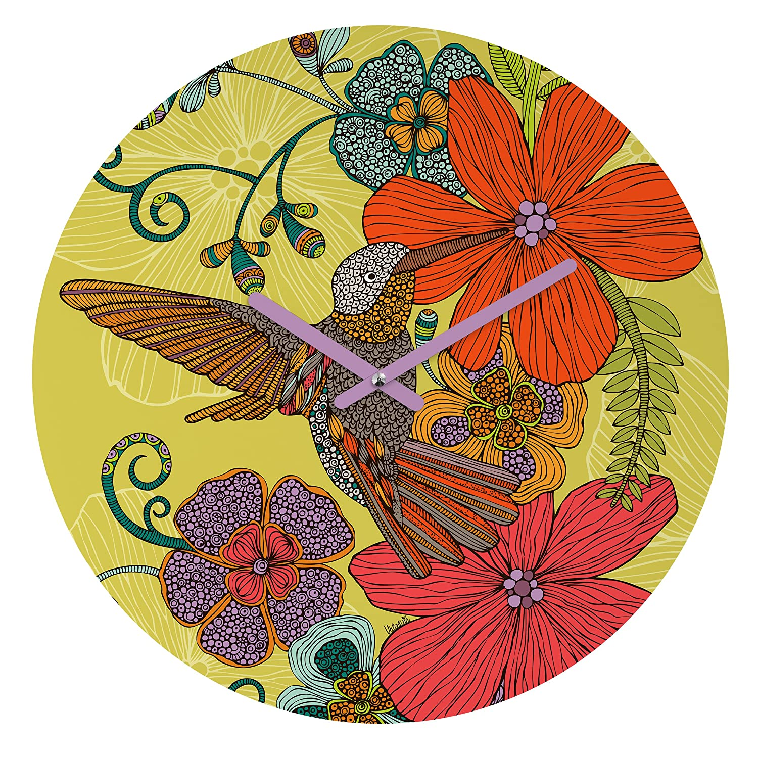 Deny Designs Valentina Ramos, Ruby The Elephant, Round Clock, Round, 12 12 39231-roucls