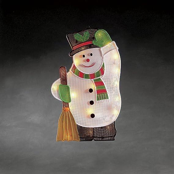 Konstsmide 4611-107 blanc chaud DEL Icicle Rideau-câble noir Noël