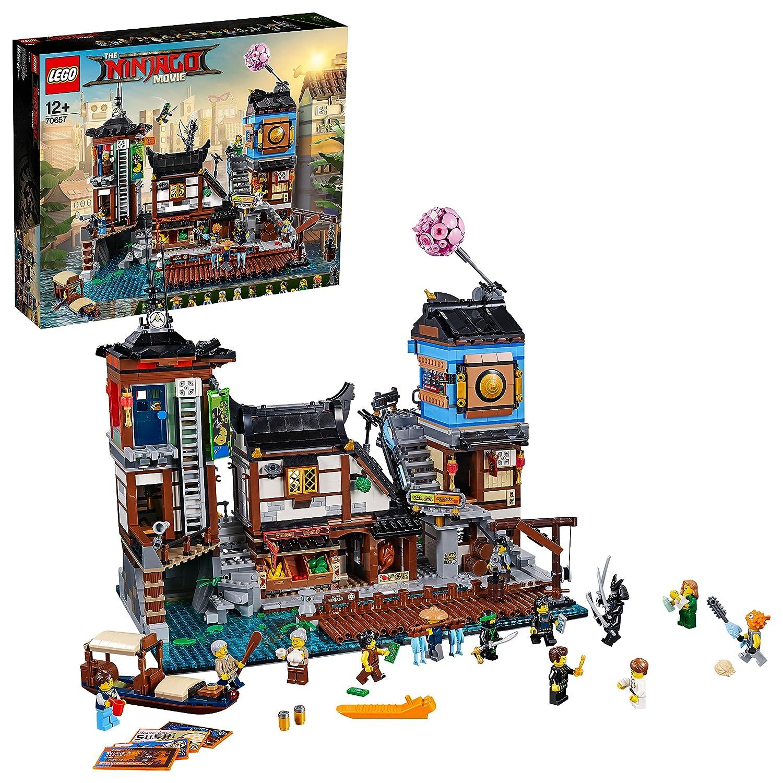 LEGO Ninjago - Muelles de la Ciudad, Juguete de Construcción para Recrear las Escenas Ninjas (70657)