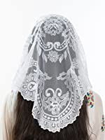 White Catholic Veils and Mantilla Scarves – Elegant Lace Mantillas, Head Coverings for Mass and Catholic Chapel Veils