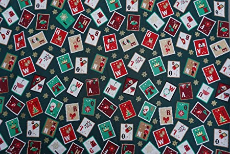 Telas de algodón de Navidad de Prestigio de tela navideño rosa y Hubble Manualidades Patchwork tela de mesa de 135 cm de ancho por metro-: Amazon.es: Hogar