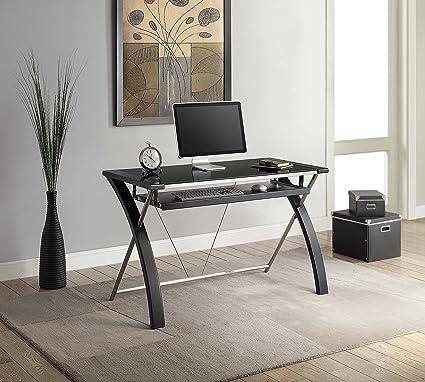 Whalen Furniture Zara Office Computer Desk, 48 Inch, Black