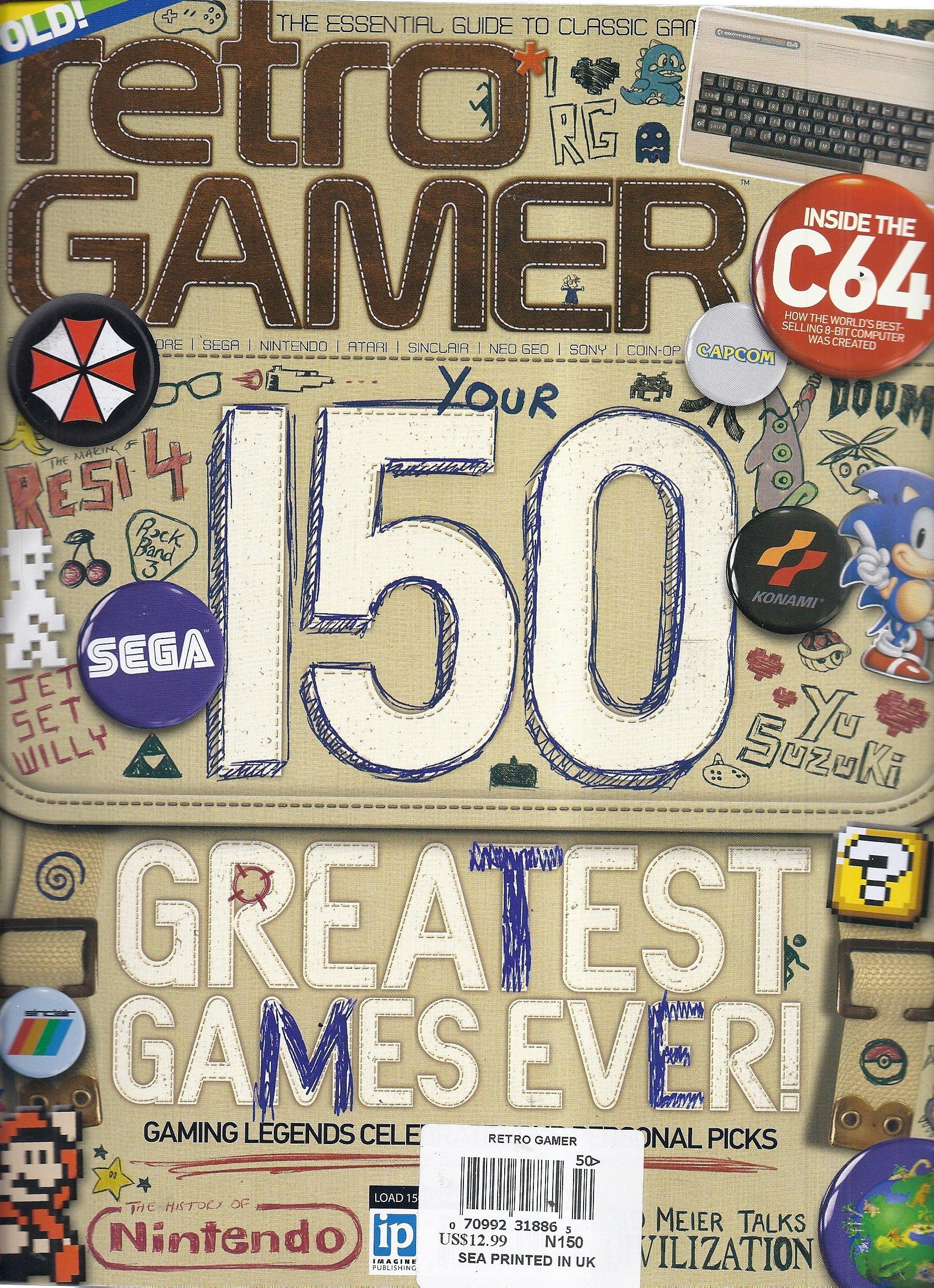Retro Gamer Magazine (#150 - Your 150 Greatest Games Ever