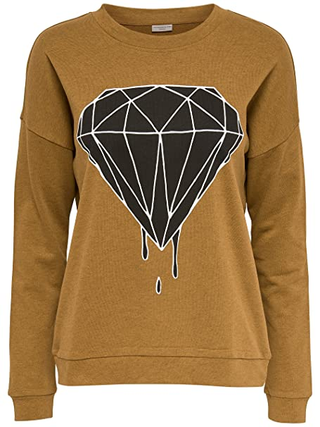Only Sudadera Estampada JDY Cooper Mujer - M, Golden Brown