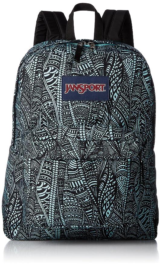 6cfa0dfd3a8 JanSport Superbreak Backpack - Aqua Dash Scribbled Ink: Amazon.ca: Luggage  & Bags