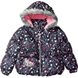d2ed789b1 Amazon.com: Hello Kitty Girls' All over printed long puffer with ...