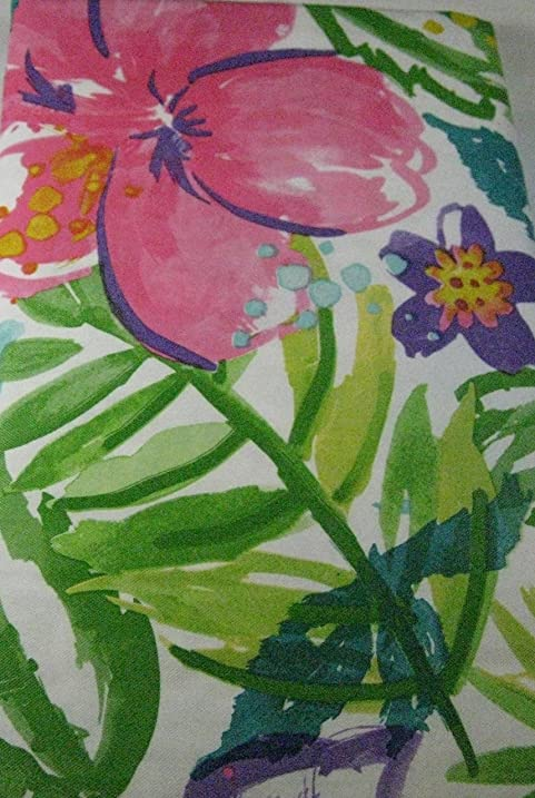 Summer Fun Flannel Back Vinyl Tablecloths Tropical Flowers Assorted  Sizes Sq., Oblong And