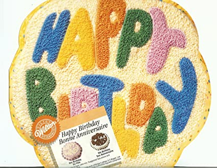 Image Unavailable Not Available For Color Wilton Happy Birthday Cake Pan