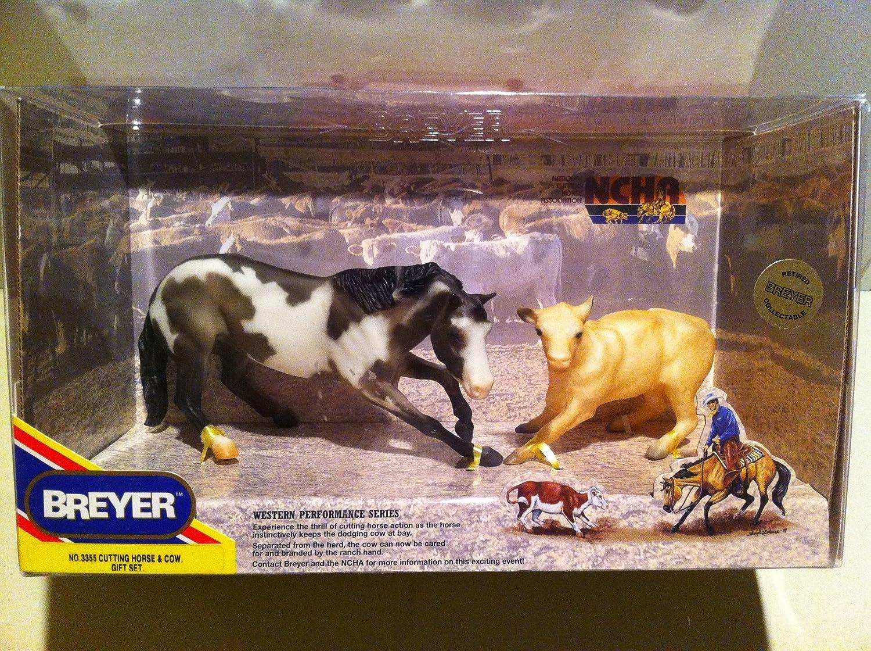 Breyer Horses 3355 Cutting Grullo Horse /& Calf Cow