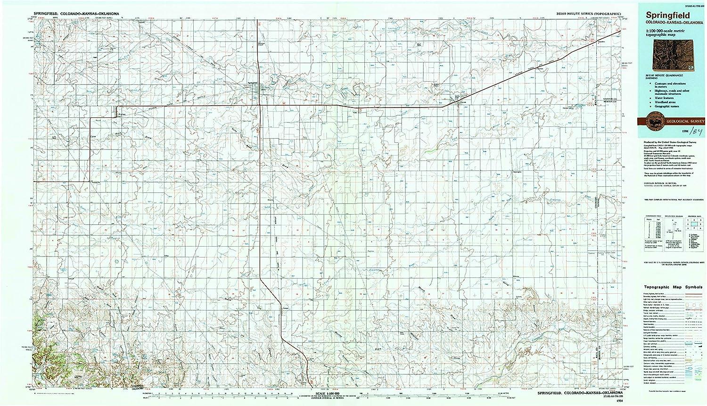 Springfield Colorado Map.Amazon Com Yellowmaps Springfield Co Topo Map 1 100000 Scale 30