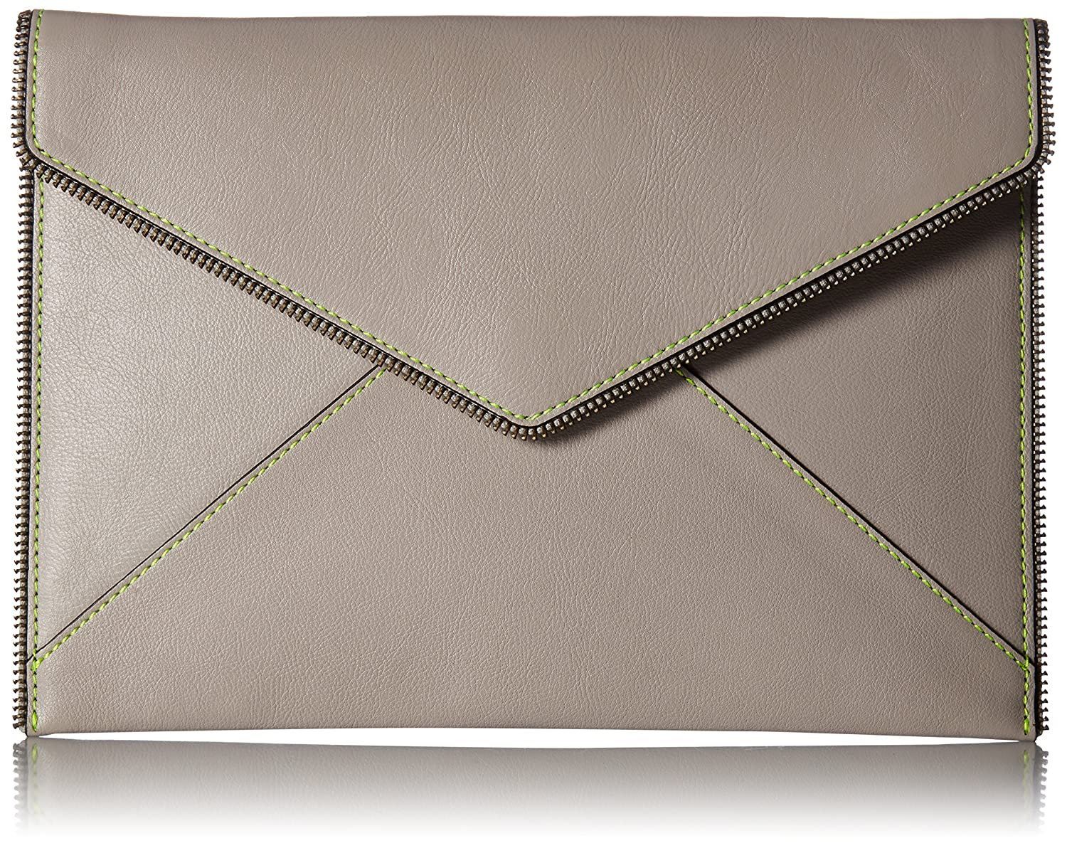 Rebecca Minkoff Leo Clutch with Top Stitch HU17GRCC17
