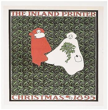 3drose Vintage The Inland Drucker Christmas 1895 – Grußkarten, 15,2 ...