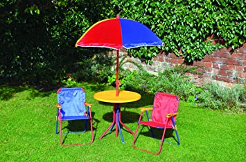 Kids Childrenu0027s Picnic Garden Parasol Umbrella Folding Patio Table Chairs  Set Part 15