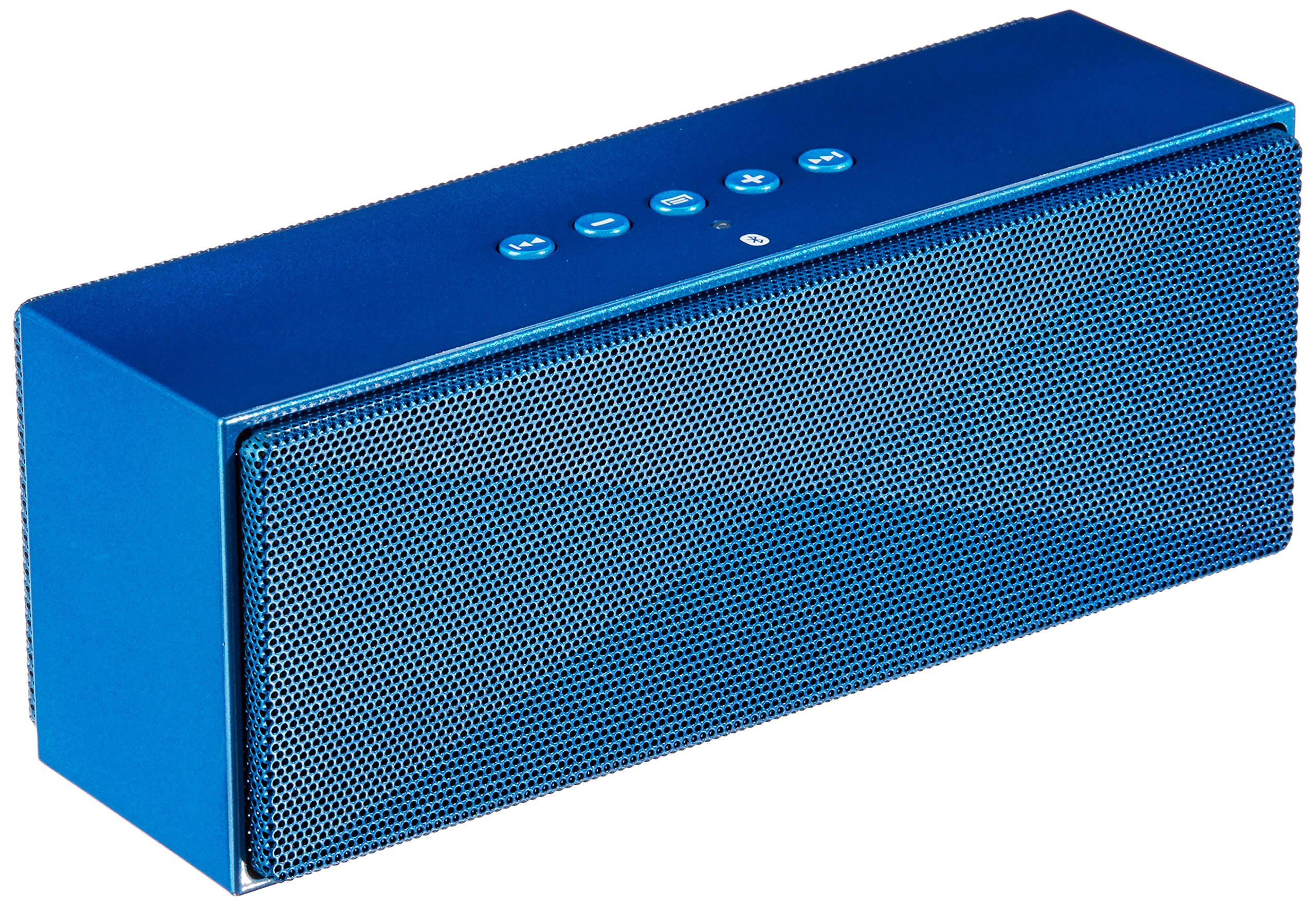 AmazonBasics Wireless Bluetooth Dual 3W Speaker with Built-in Microphone - Blue