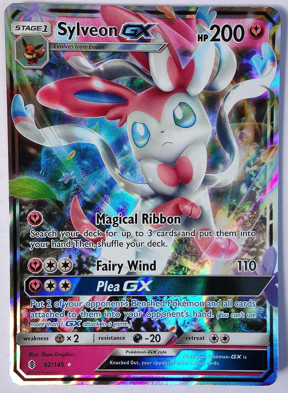 amazon com pokemon sun u0026 moon guardian rising sylveon gx 92 145