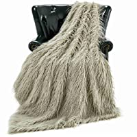 Homey Forte Luxury Faux Fur Throw Blanket for Living Room (779A Olive Green 50