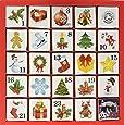 English Tea Shop X'mas Advent Calendar Christmas Ornaments Pyramid Tea Bags (Pack of 2, Total 50 Tea Bags)