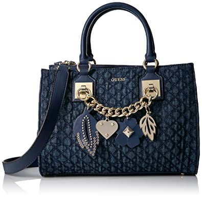 faaffa2ed30 GUESS Women s Denim Stassie Society Satchel  Amazon.in  Shoes   Handbags