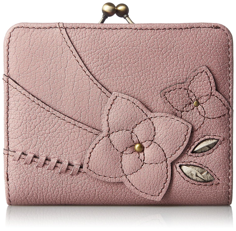 [エスノ] がま口財布 コラージュ 本革製 多収納 MJ6003 B071GK4KCY ピンク ピンク