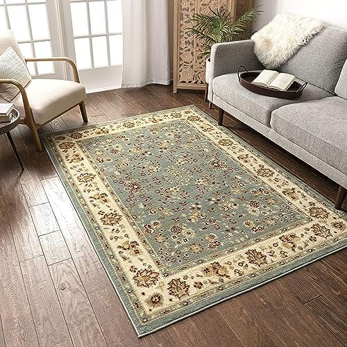 Well Woven Persia Sarouk Blue 8 2 x 9 10 Area Rug Carpet