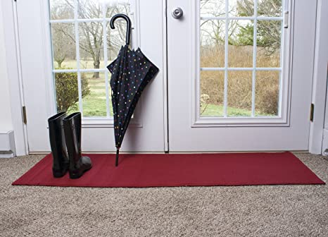 Ritz Accent Door Rug Runner with Non-Slip Latex Backing, 20-Inch by 60-Inch  Kitchen & Bathroom Runner Rug, Red