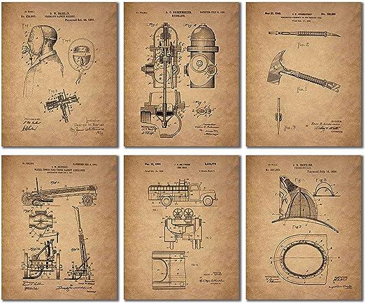 Fireman Patent Wall Art Prints