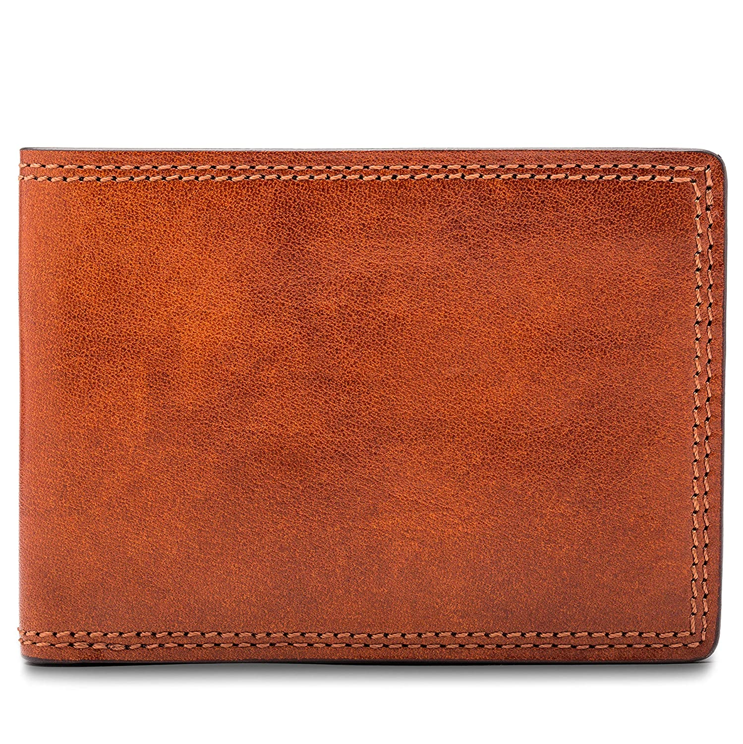 Bosca Mens Small Bifold Leather Wallet