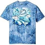 The Mountain Unisex Adult Sharks Selfie Aquatic T Shirt