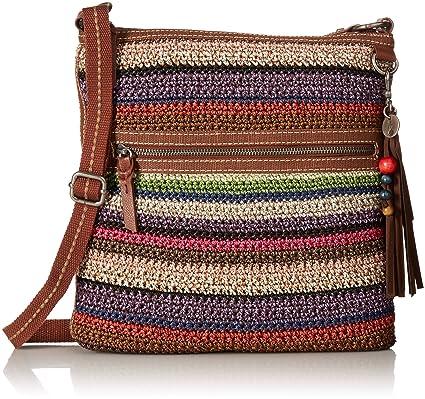 Buy The Sak Womens Lucia Crochet Crossbody Vagabond Stripe