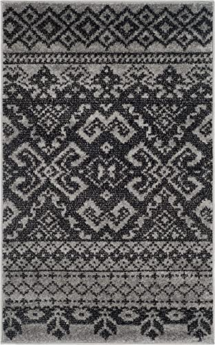 Safavieh Adirondack Collection ADR107A Silver and Black Rustic Bohemian Area Rug 3' x 5'