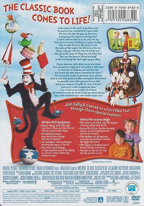 Amazon Dr Seuss The Cat In Hat Full Screen Edition Mike Myers Kelly Preston Alec Baldwin Dakota Fanning Spencer Breslin Sean Hayes