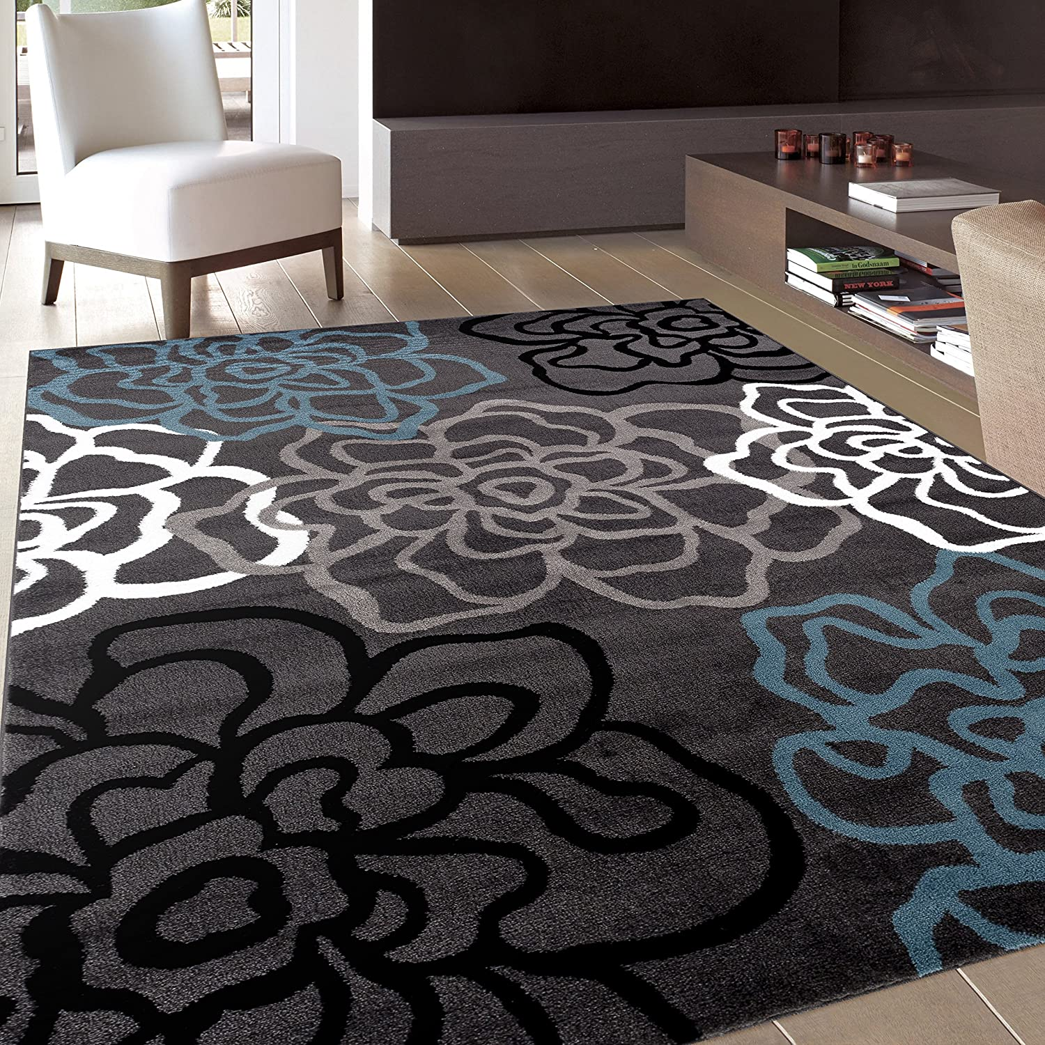 Amazon.com: Rugshop Contemporary Modern Floral Flowers Area Rug, 7\' 10