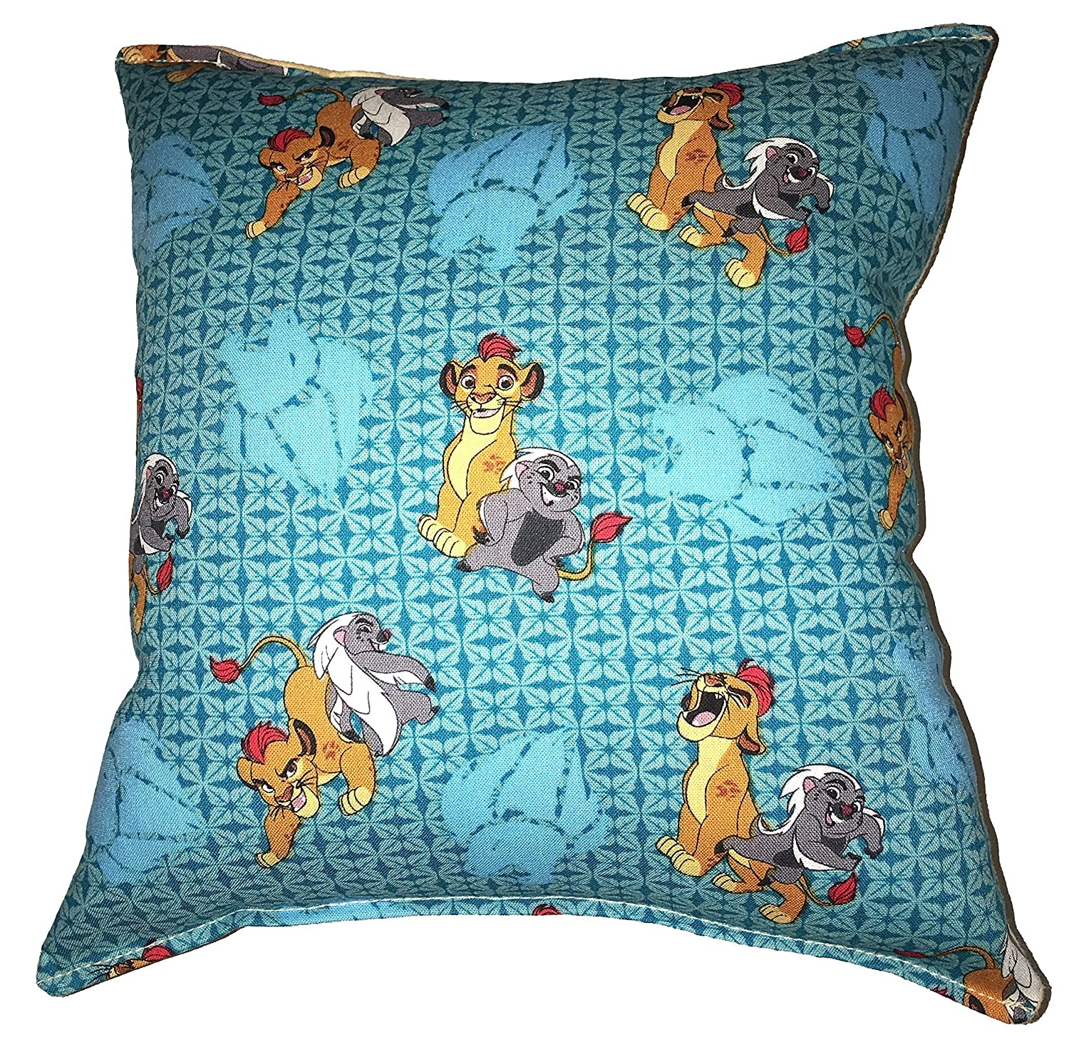 "Lion Guard Pillow Lion King, Kion, Bunga, HANDMADE Disney Jr, Tv Show, Travel , Daycare , NEW Pillow is approximately 10"" X 11"