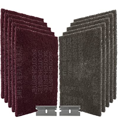 CANOPUS - 3M Scotch Brite Scuff Pads Very Fine and Ultra Fine (5+5): Automotive