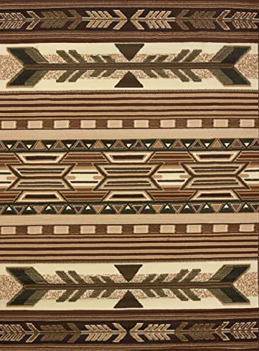 United Weavers of America Legends Collection Broken Arrow Lodge Rug 5ft, 3in. x 7ft. 2in, Multicolor, Jute Backing Rug with Southwestern Pattern