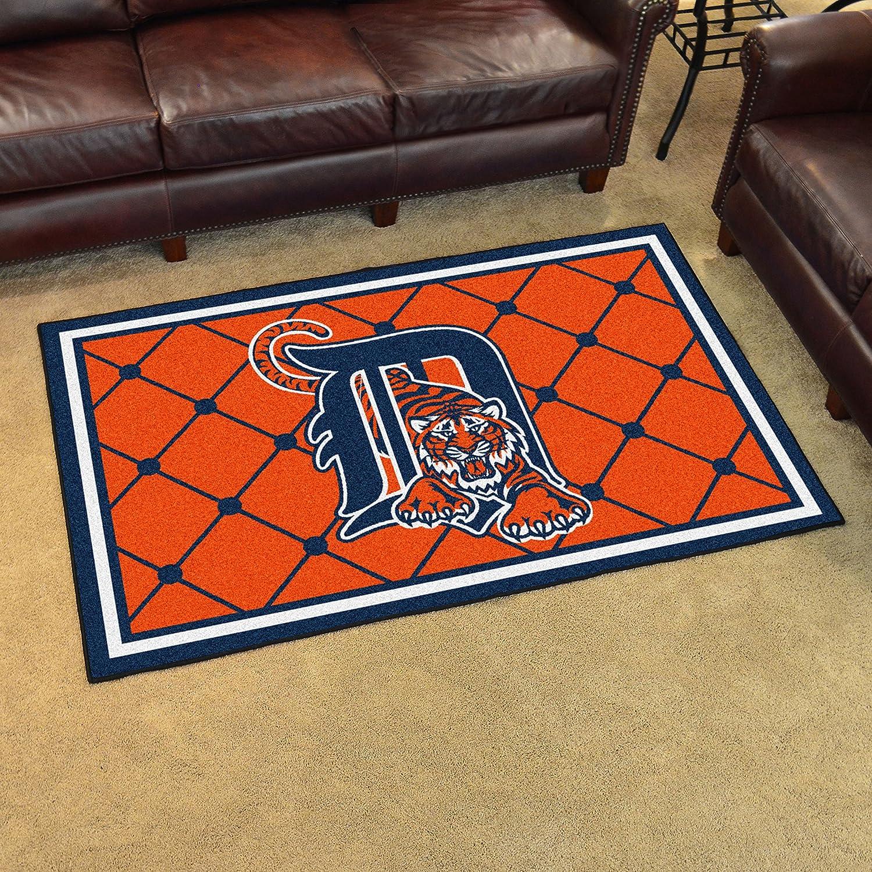 FANMATS MLB Detroit Tigers Nylon Face 4X6 Plush Rug