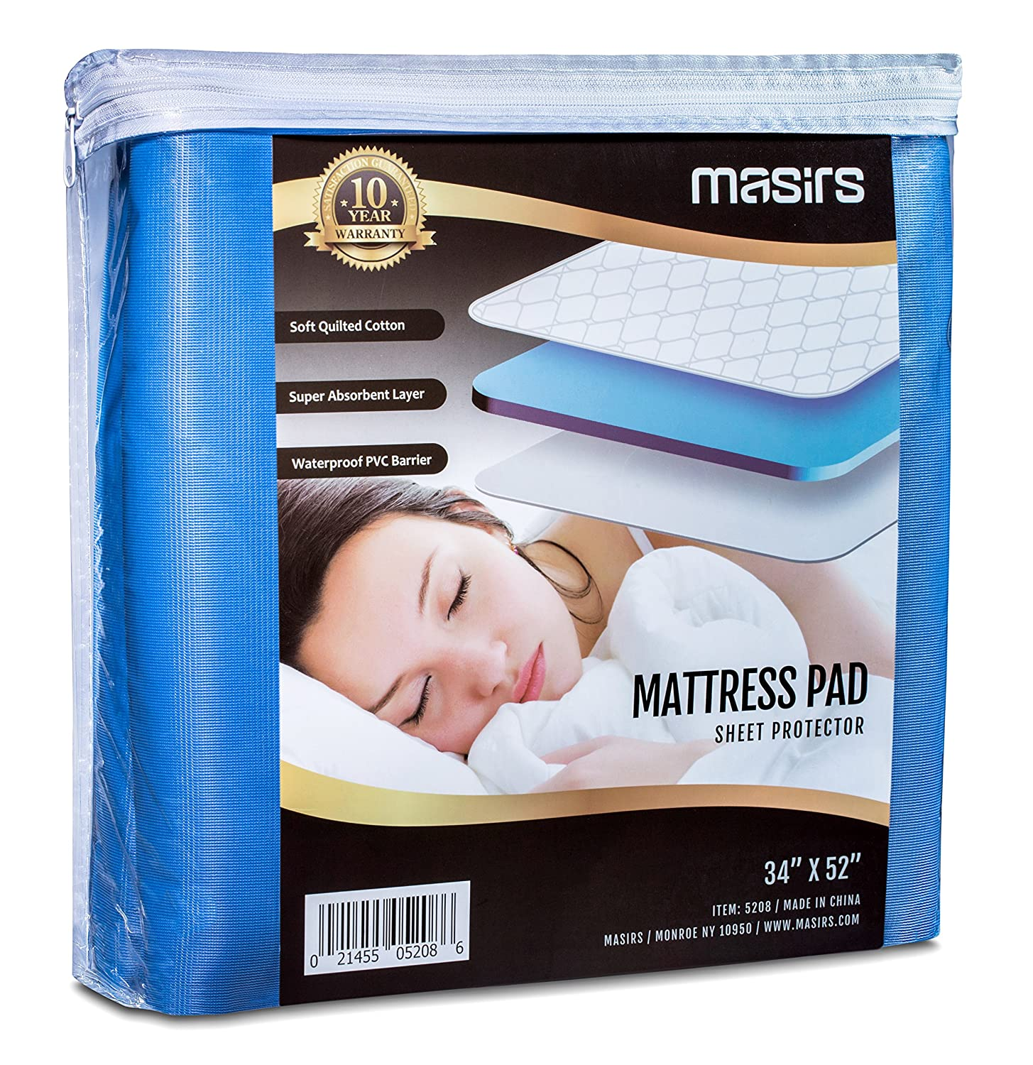 amazon com mattress pad sheet protector soft quilted cotton with