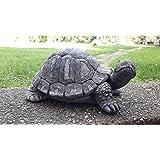 Steinfigur Gro Schildkröte 28 cm Deko Garten Tier Tierfigur Gartenfiguren NEU