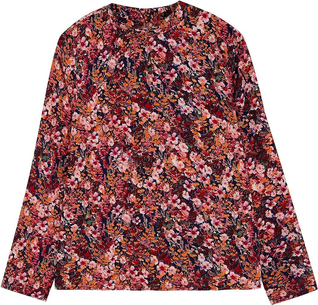 Compañia Fantastica Ambermoon Top Camisa, Multicolor (Print 000052), XS para Mujer: Amazon.es: Ropa y accesorios