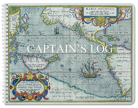 Amazon.com : BookFactory Captain's Log Book/Boat Log Book/Ship's Log on