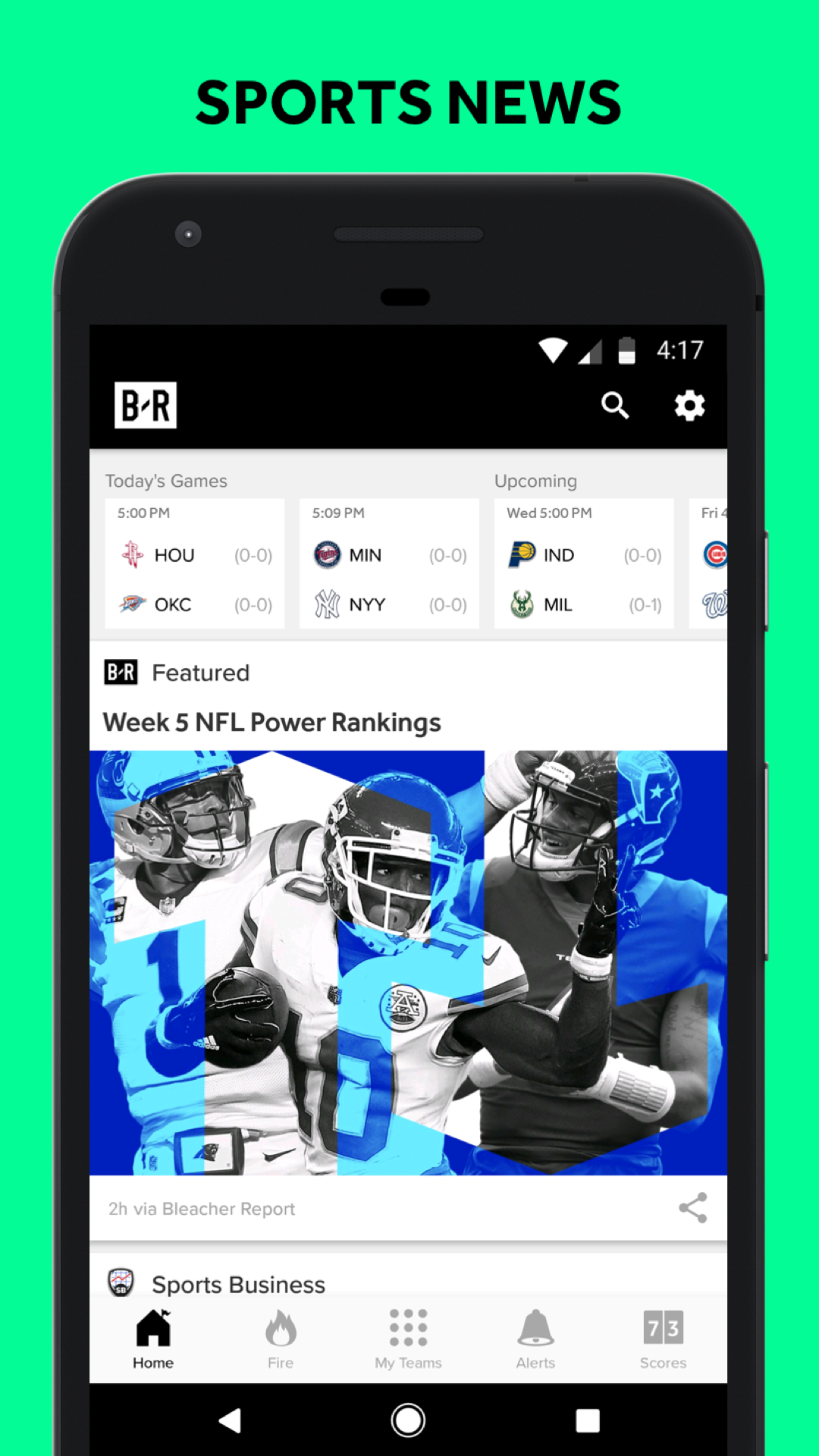 Bleacher Report: sports news, scores, & highlights
