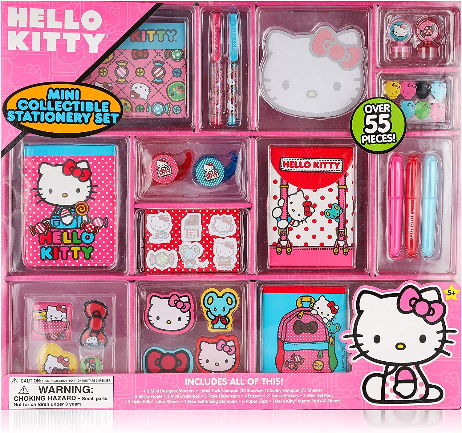 Hello Kitty Mini Collectible Stationary Set Fun Assortment of Over 55 Pieces - Stickers, Gel Pens and Stationary Perfect Gift for Every Girl