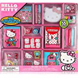 Hello Kitty Mini Collectible Stationary Set Fun Assortment of Over 55 Pieces - Stickers , Gel Pens and Stationary Perfect Gif